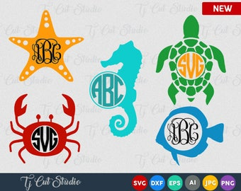 Summer sea svg, Beach, Summer, Ocean, Animal, Seahorse SVG  Summer sea svg, Beach,sea star svg, Ocean, Animal, turtle, sea horse, crab svg,