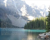 Psalm 23   Downloadable digital scripture.  (receive 5 sizes - 5x7, 8x10, 11x14, and 2 sized for matting)