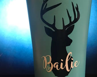 Personalized Deer Silhouette Mug