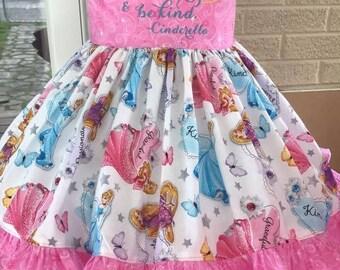 Princess theme dress with applique