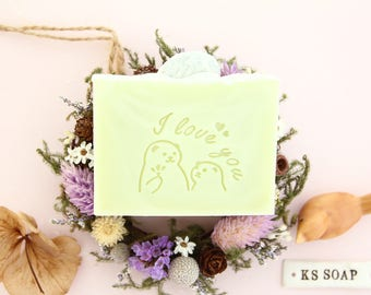 I love you Acrylic Glass Soap Stamp