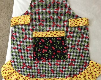 Vintage pleated full apron