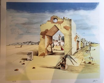 Limited Edition Hand Signed Salvitor Dali Lithograph