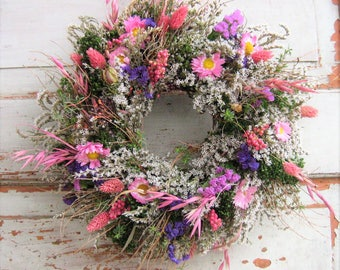 Flower wreath door wreath natural spring hand permanently