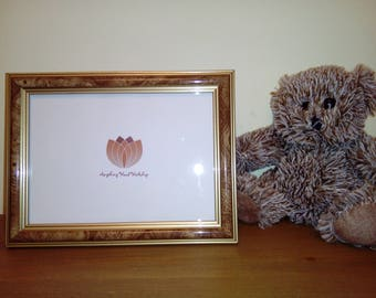 Walnut Effect Photo Picture Frame