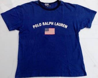 Polo Ralph Lauren Vintage Blue T Shirt By Ralph Lauren 160