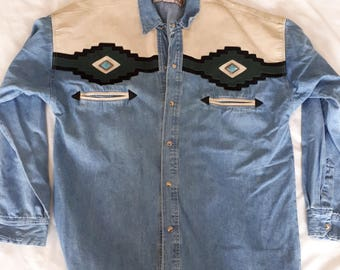 Vintage Rivergold Denim shirt. L