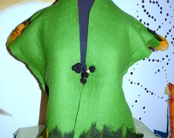 Elves vest warm green - amber size 36-38