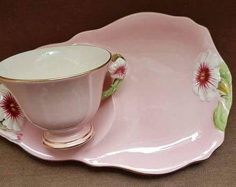 Royal Winton Gimwades Pink Pitunia snack / tennis plate