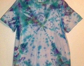 Tie Dye Blue and Purple Ripple XL
