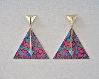 Abstract triangular arrow earrings