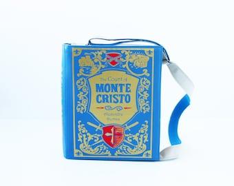 The Count of Monte Cristo Leather Book Purse Alexandre Dumas Book Bag