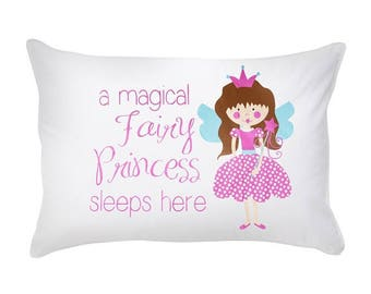 Pillow Case Cotton Standard Size A Magical Fairy Princess Sleeps Here