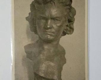 Grumpy Beethoven Vintage Postcard