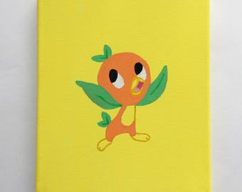 Orange Bird Simple Painting