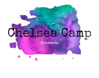 Purple Logo, Purple and Teal, Watercolor Logo, Splash Logo, Branding Logo