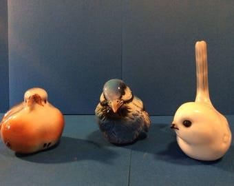 Porcelain Hand Painted Vintage Collectible Birds
