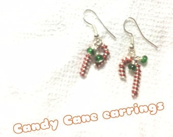 candy cane earrings dangle