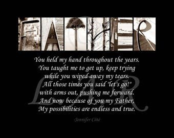 Father...8x10in Letter Art Print, Alphabet Photography