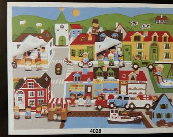 Jette Viby, sewing kits, littletown, alfabeth, circus, polar land. Finger dolls, wall hanging carpet for kids, babies etc.