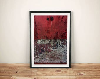 Red and White Contemporary Art Wall Collage Decor