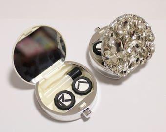 Bling Bling Rhinestones Contact Lenses Case Set