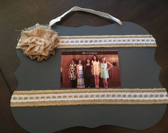 Chalk board photo frame