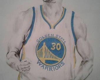 Steph Curry drawing