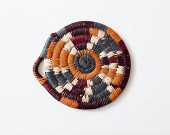 Vintage Colorful Woven Trivet
