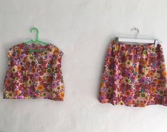 VNTG * HAND-MADE * Festival Skirt Set