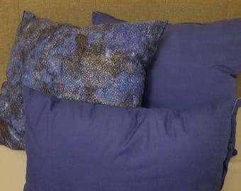 Galaxy Blue Pillow