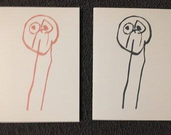 Sad Guy - Blank Card