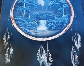 Night Time Forest Dream Catcher