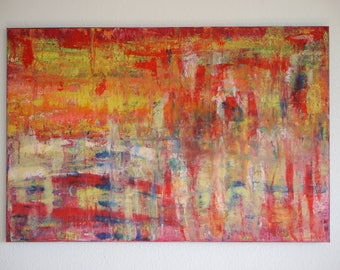 large painting, acrylics, abstract, motif - FROHSINN -.