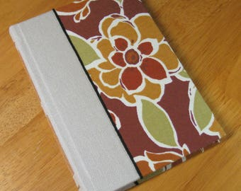 Journal Sketchbook Diary fabric cover Long Stitch binding
