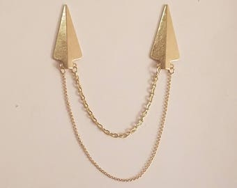 Gold on Gold Collar Clip