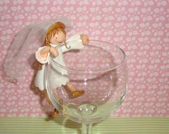 Figurine glass tableware, for wedding, christening, baby shower...