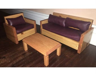 "Sofa & Chair for 18"" Dolls"