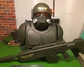 Kasrkin Imperial Guard Armor Helmet Warhammer Cosplay Suit Costume Lasgun Cadian 40k
