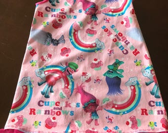 Troll dress girls size 4 or 5