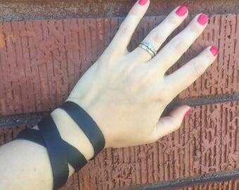 The Black Leather Wrap Bracelet