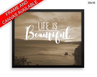 Life Is Beautiful Prints  Life Is Beautiful Canvas Wall Art Life Is Beautiful Framed Print Life Is Beautiful Wall Art Canvas Life Is