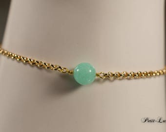 Turquoise jade to gold-plated sterling