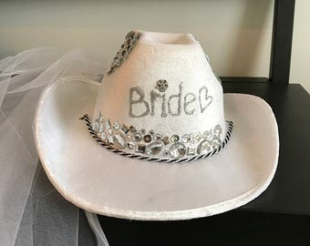 Custom Cowboy Hat for bride to be