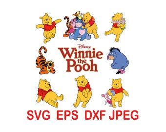 Winnie The Pooh.svg,eps,dxf,png.