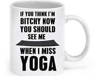 Yoga Mug, Yoga Coffee mug, Yoga gifts, Yoga girl mug, Gift for yoga girl