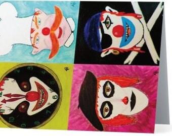 Clown Art Notecards