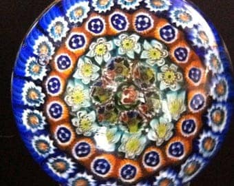 Vintage Murano Millefiori Glass Paperweight: A Gem