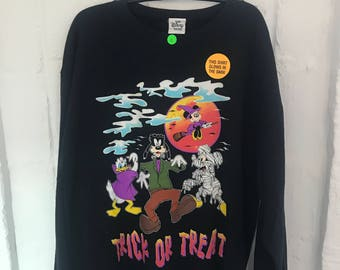 "Vintage Disney glow in the dark ""Trick or Treat"" sweatshirt"