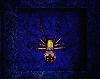 Art Deco- framed spider- Digital art-Giclee print-Canvas -Art-prints-shop -Fine art